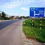 Road sign for Hyundai plant in Nha Trang